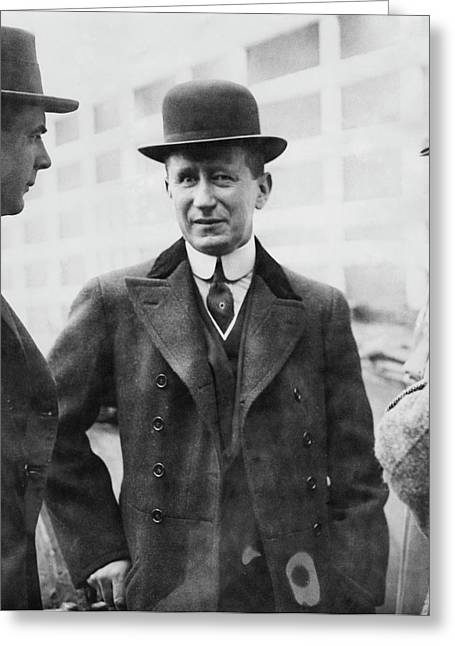 Guglielmo Marconi Greeting Card by Miriam And Ira D. Wallach Division Of Art, Prints And Photographs/new York Public Library