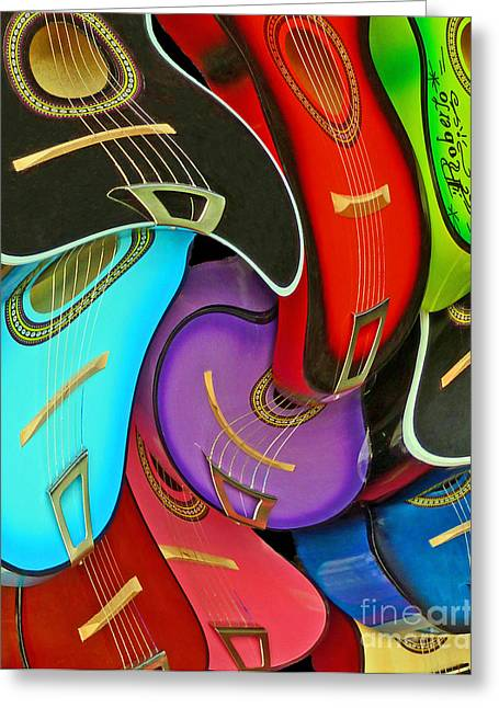 Guitar Swirl Greeting Card