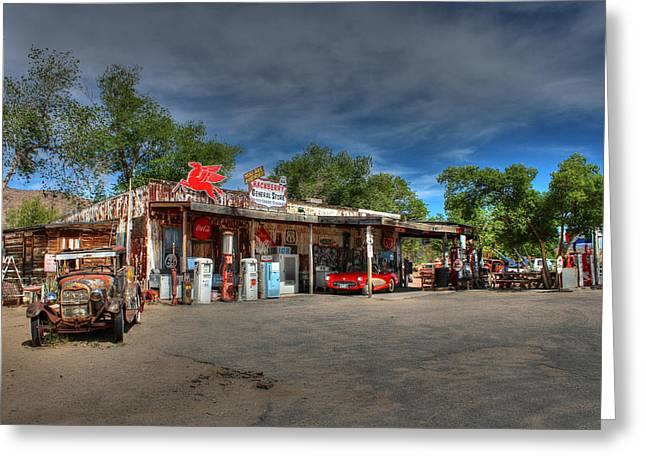 Hackberry General Store On Route 66 Greeting Card by Lynn Jordan