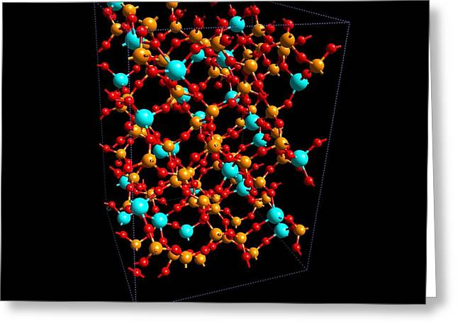 Hafnium Silicates Greeting Card by Ibm Research