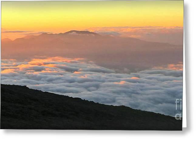 Haleakala Sunset Greeting Card by Joan  Minchak