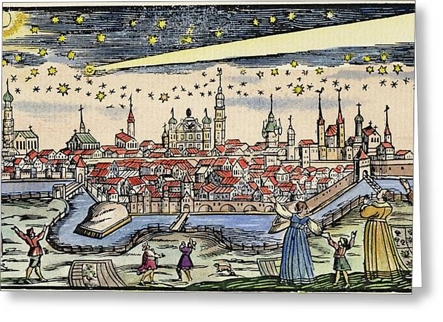 Halley's Comet, 1680 Greeting Card by Granger