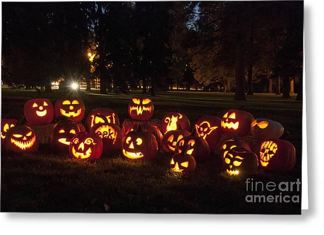 Halloween Pumpkins Greeting Card by Juli Scalzi