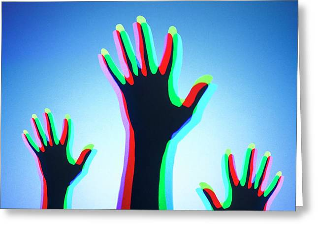 Hands With Colour Mixing Greeting Card