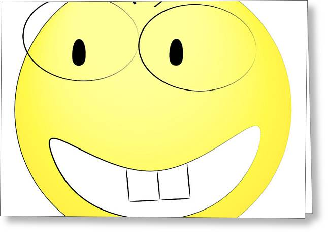 Happy Yellow Smiley Greeting Card