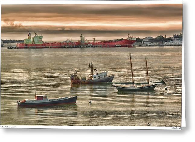 Greeting Card featuring the photograph Harbor Morning by Richard Bean