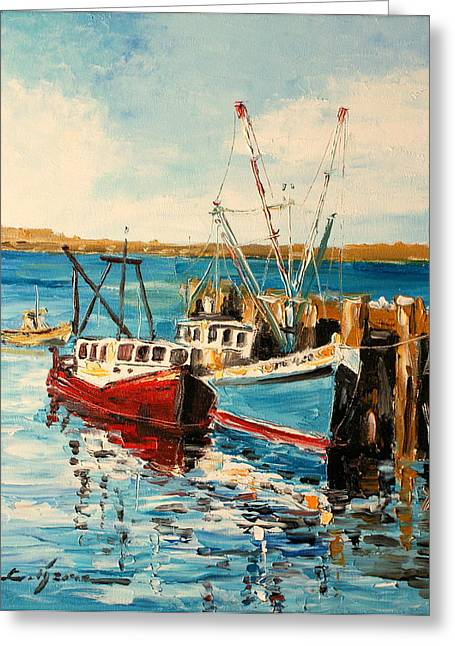 Harbour Impression Greeting Card