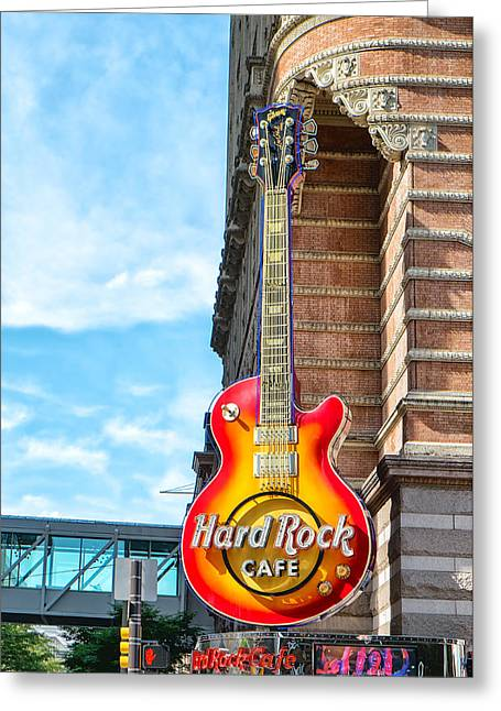 Hard Rock Cafe Guitar Greeting Card