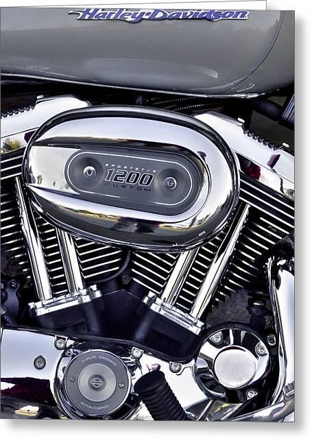 Harley Davidson Sportster 1200 Greeting Card by David Patterson