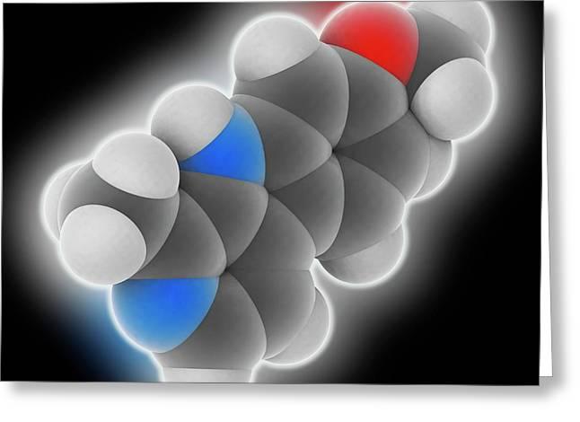 Harmine Drug Molecule Greeting Card by Laguna Design