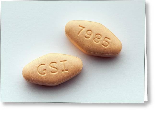 Harvoni Hepatitis C Drug Greeting Card
