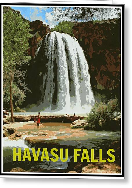 Havasu Falls Grand Canyon Greeting Card