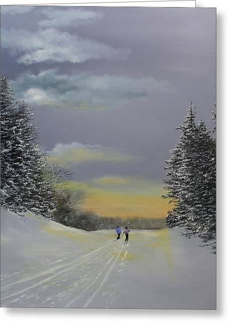 Heading Home Greeting Card by Ken Ahlering