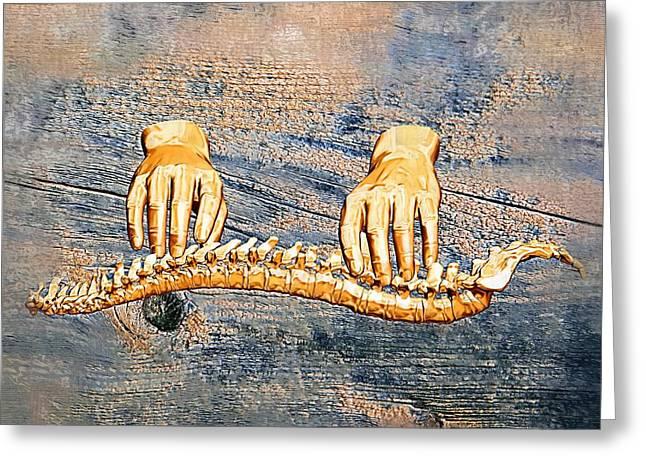 Healing Touch Greeting Card by Joseph Ventura