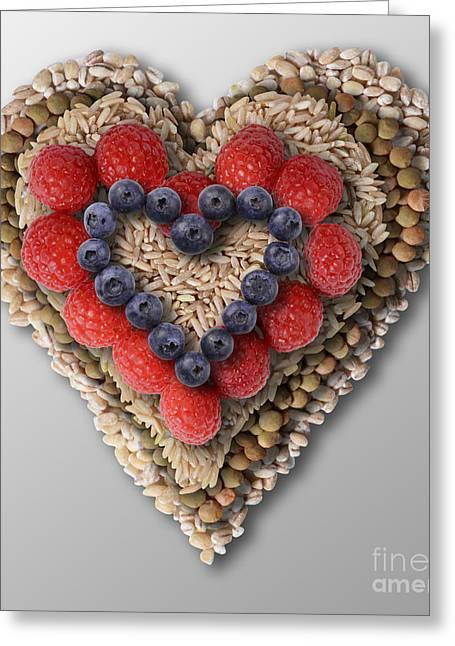 Heart-healthy Foods Greeting Card by Gwen Shockey
