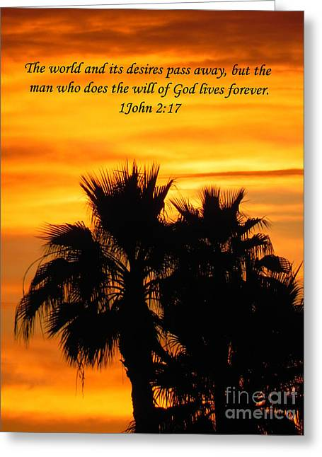Heavenly Sunset Greeting Card by Deb Halloran