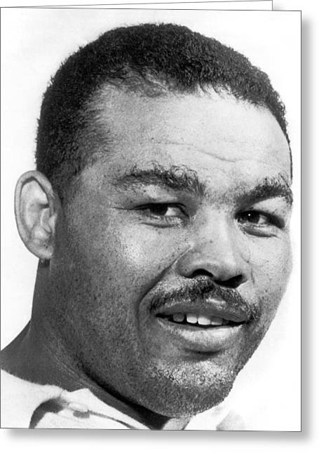 Heavyweight Champion Joe Louis Greeting Card by Underwood Archives