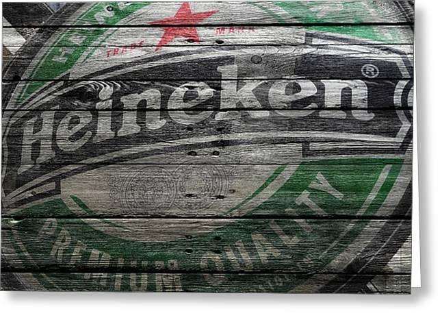 Heineken Greeting Card by Joe Hamilton