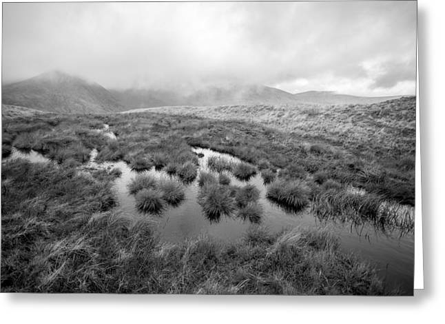 Helvellyn Greeting Card by Mike Taylor