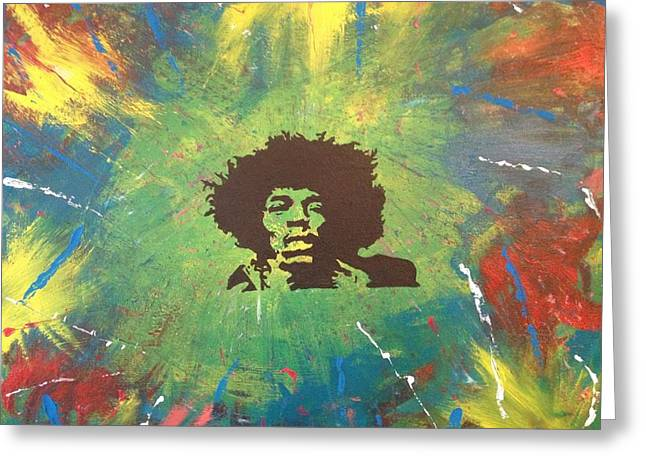 Hendrix Greeting Card by Scott Wilmot
