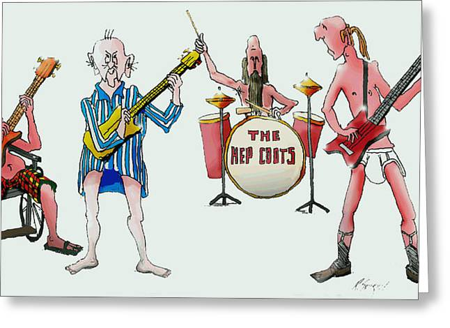 Sixties And Seventies Musicians Greeting Card