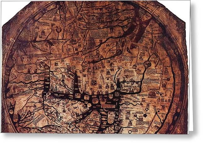 Hereford Mappa Mundi 1300 Greeting Card