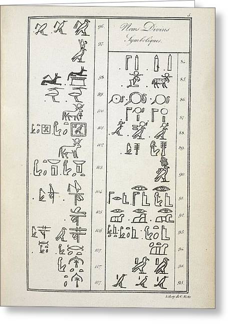 Hieroglyphics Research Greeting Card