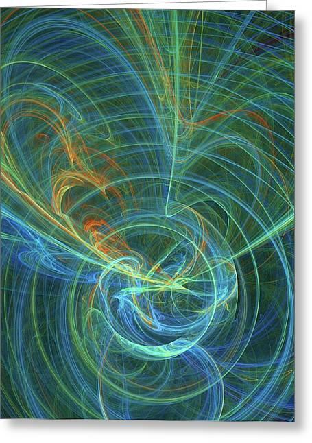 Higgs Field Artwork Greeting Card