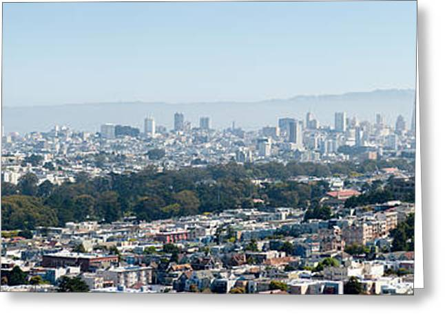 High Angle View Of A City, San Greeting Card