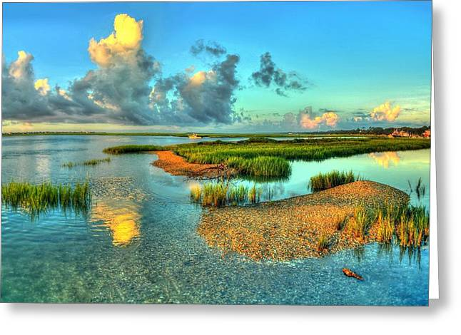 High Tide Greeting Card by Ed Roberts