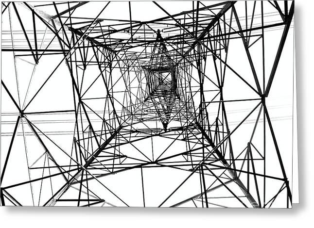 High Voltage Power Mast Greeting Card by Yali Shi