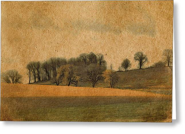 Hill Country Greeting Card by Bonnie Bruno