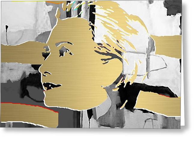 Hillary Clinton Gold Series Greeting Card by Marvin Blaine