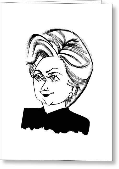 Hillary Clinton Greeting Card by Tom Bachtell