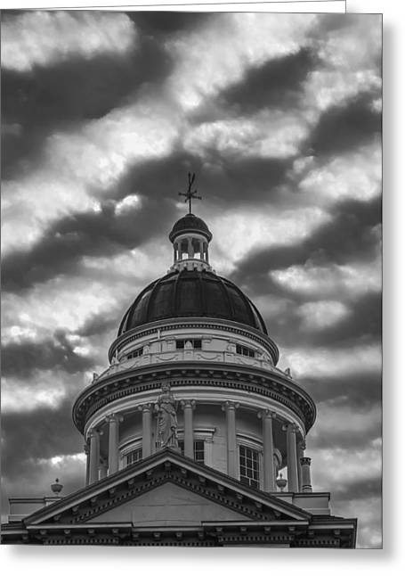 Greeting Card featuring the photograph Historic Auburn Courthouse by Sherri Meyer