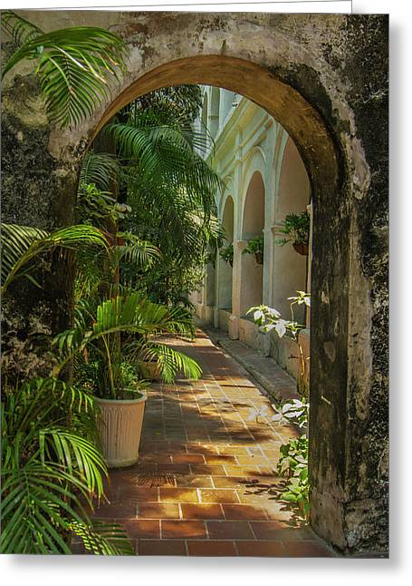 Historic Santuario And Iglesia De San Greeting Card by Jerry Ginsberg