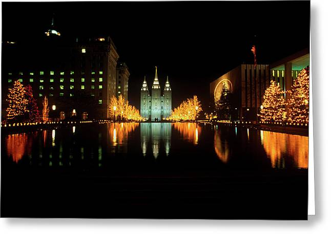 Historic Temple And Square In Salt Lake Greeting Card