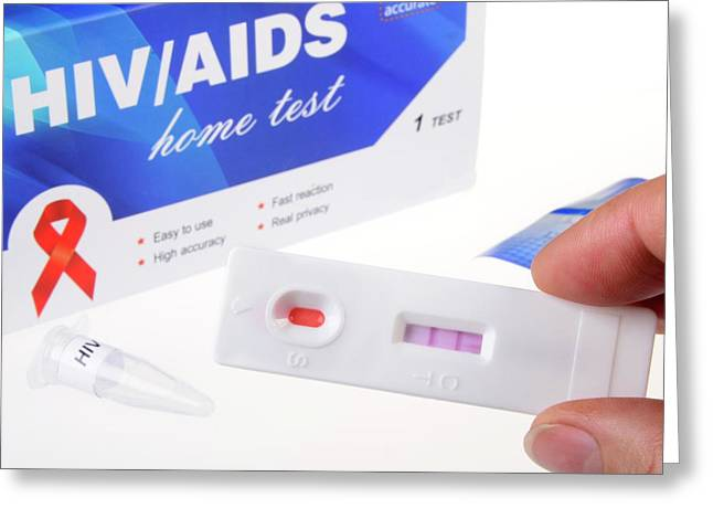 Hiv Home Blood Test Greeting Card