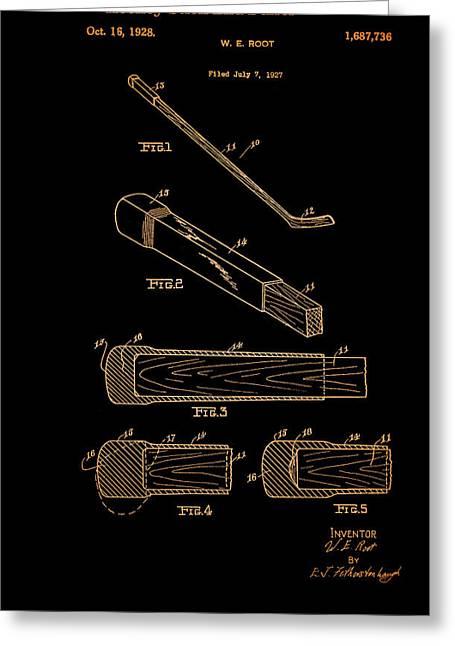 Hockey Stick End Buffer Patent 1928 Greeting Card