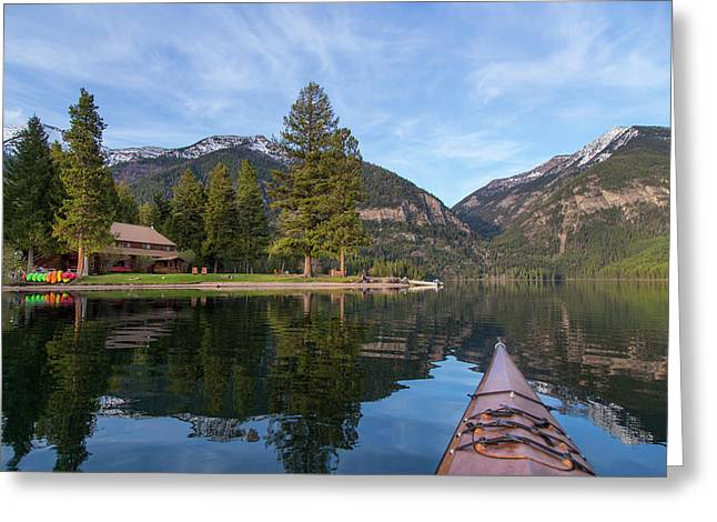 Holland Lake Lodge On Holland Lake Greeting Card by Chuck Haney