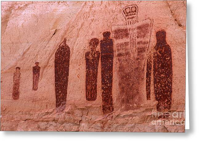 Holy Ghost Petroglyph Greeting Card by Bob Christopher