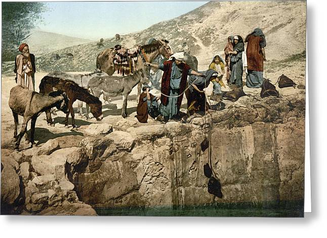 Holy Land Bedouins, C1895 Greeting Card