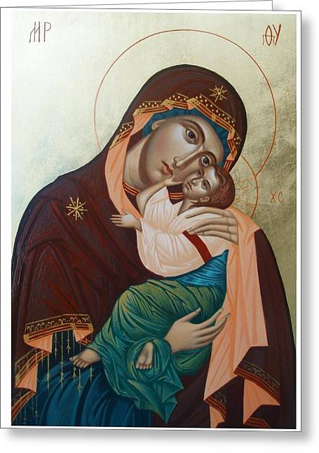 Holy Virgin Of Tenderness Greeting Card by Janeta Todorova