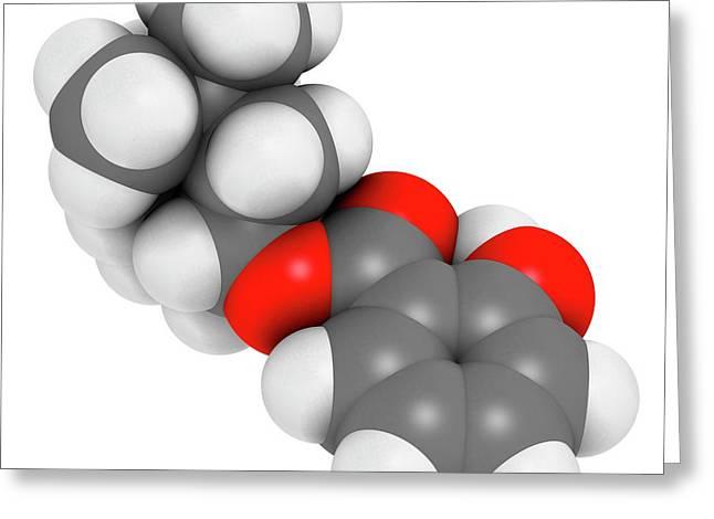 Homosalate Sunscreen Molecule Greeting Card by Molekuul