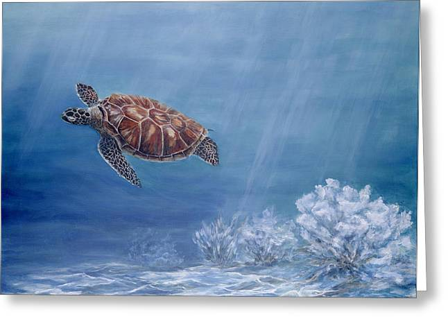 Honu Greeting Card by Dorothea Hyde