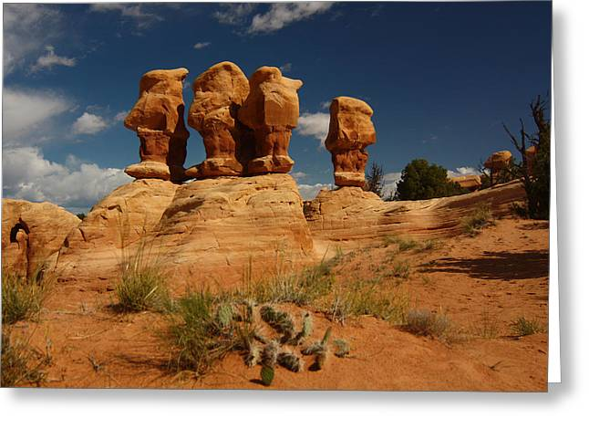 Hoodoos In Devils Garden In Grand Staircase Escalante National Monument Greeting Card