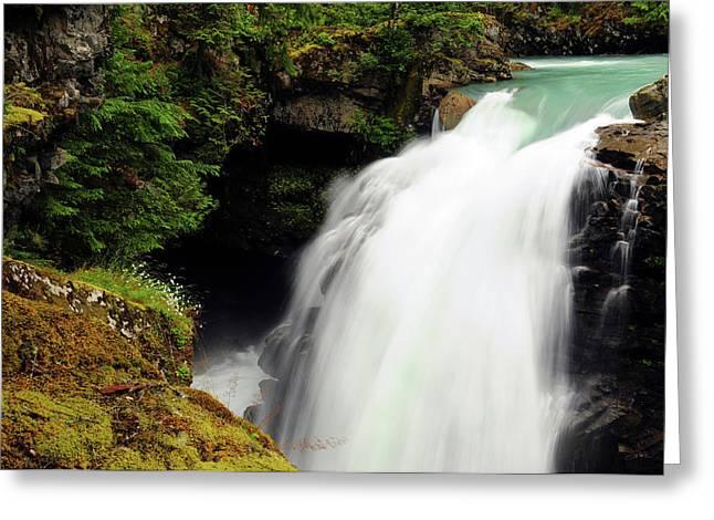 Hooksack Falls, Mount Baker-snoqualmie Greeting Card by Michel Hersen