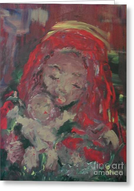 Greeting Card featuring the painting Hope  by Laurie Lundquist