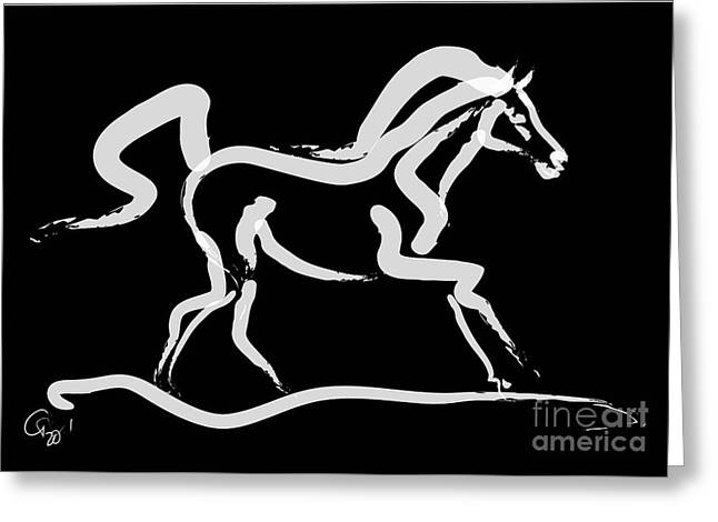 Horse-runner Greeting Card