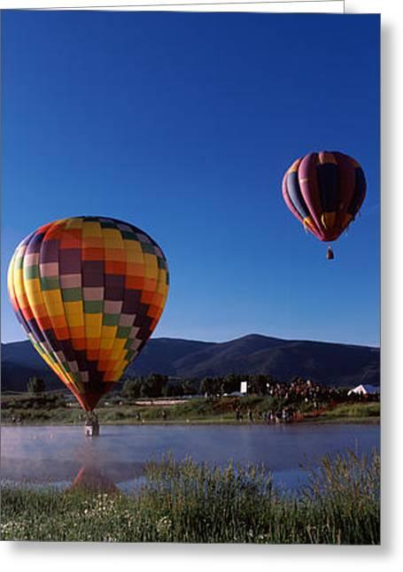 Hot Air Balloons Rising, Hot Air Greeting Card